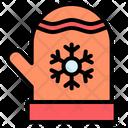 Gloves Mittens Snowflake Icon