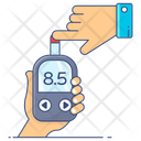 Blood Checker Blood Glucose Monitoring Glucometer Icon