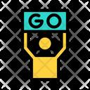 Go Sign Start Icon