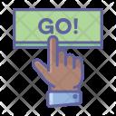 Go Button Finger Icon