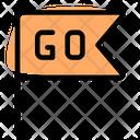 Go Flag Start Flag Sports Flag Icon