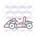 Go Kart Amusment Racing Car Icon