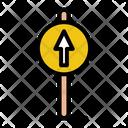 Go Straight Straight Sign Straight Icon