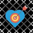 Goal Heart Target Icon
