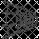 Goal Net Striking Icon