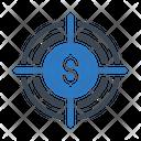 Target Focus Dollar Icon
