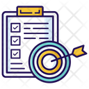 Goal Target List Inventory List Icon
