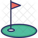 Goal Flag Golf Icon