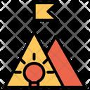 Target Flag Mountain Icon