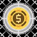 Goal Targeting Money Icon
