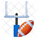 American Football Flat Icon Linear Outline Graphic Illustration Icon