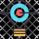 Goal Idea Bulb Icon