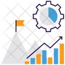 Goal Analytics Business Graph Statistical Analysis Icon