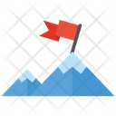 Goal Completion Summit Mountain Icon