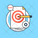 Goals Pencil Chat Icon