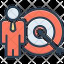 Goals Achieve Target Dart Icon