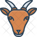 Goat Face Animals Icon