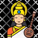 Goddess Saraswati Icon