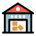 Godown Warehouse Storage Icon