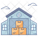 Godown Warehouse Storeroom Icon