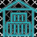 Godown Warehouse Storage Icon