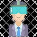 Goggles Man Icon