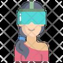 Goggles Woman Icon