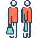 Going To Shopping Together Excitement Icon