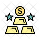 Gold Ingots Accessories Icon