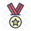 Gold Honor Medal Icon