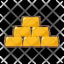 Gold Bullions Precious Icon