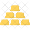 Gold Gold Biscuits Gold Ingots Icon