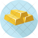 Gold Bar Bars Icon
