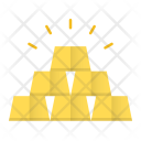 Gold Ingots Bar Icon