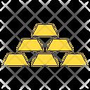 Gold Bar Gold Cube Ingots Icon