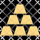 Gold Bars Bricks Icon