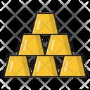 Gold Ingot Brick Icon