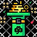 Gold St Patrick Saint Patrick Icon