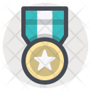 Gold Medal Badge Icon