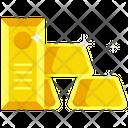 Gold Gold Bar Golden Icon