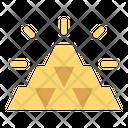 Gold Bars Shiny Icon