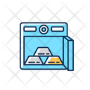 Gold Bars In Safe Icon
