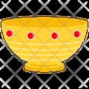 Gold Bowl Decorative Bowl Pure Gold Icon