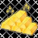 Gold Bricks Wealth Icon