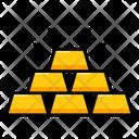 Gold Stack Gold Bricks Wealth Icon