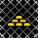 Gold Brick Industrial Icon