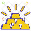 Billions Wealth Gold Stack Icon