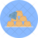 Gold Bricks Jewel Wealth Icon