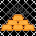 Gold Bricks Ingots Bullion Icon