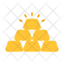 Gold Bricks Ingot Bullion Icon